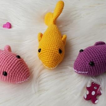 Amigurumi Kedi&köpek oyuncağı (balık)