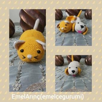 Amigurumi 2+1 kedi&köpek