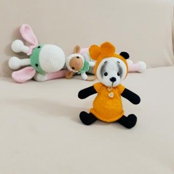 Amigurumi Elbiseli Panda