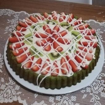 Ispanaklı Meyveli Tart Kek