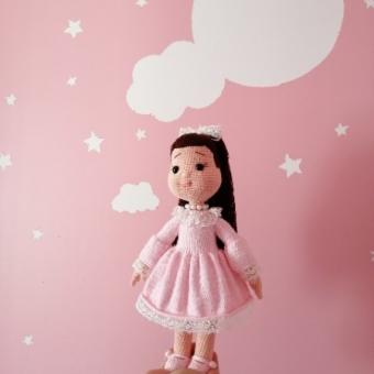 Amigurumi Pembe elbiseli kızım