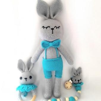 Amigurimi tavşan set