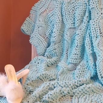 Örgü battaniye/koltuk şalı