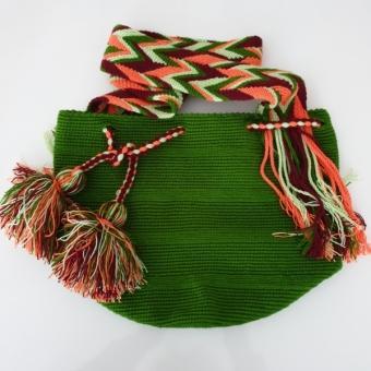 Yeşil Wayuu Çanta