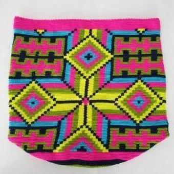 Neon Desenli Wayuu Çanta
