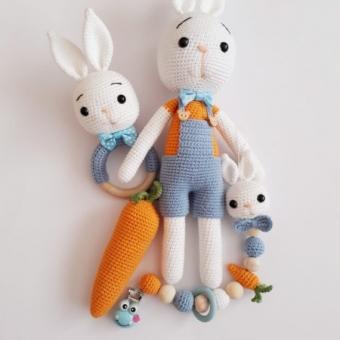 Amigurumi Tavşan Çıngırak Seti