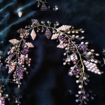 Gelin Tacı ve Tokası Bride Crown Corona De Novia Para Boda