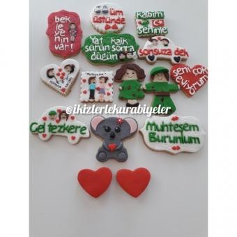 Sevgili hediyeliği kurabiyeler