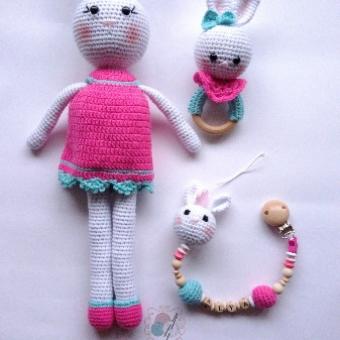 Amigurumi tavşan set 3