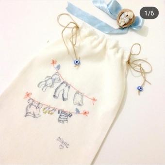 Bebek kıyafet kesesi isme özel