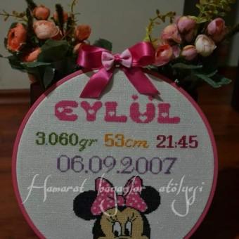 Etamin Minnie Mouse Doğum Panosu