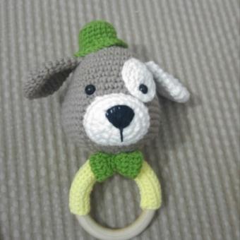 Amigurumi Sevimli Köpek Çıngırak