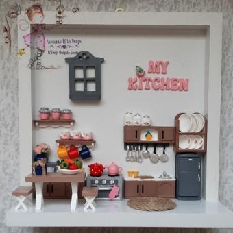 Kokulu Taş Minyatür Mutfak Panosu