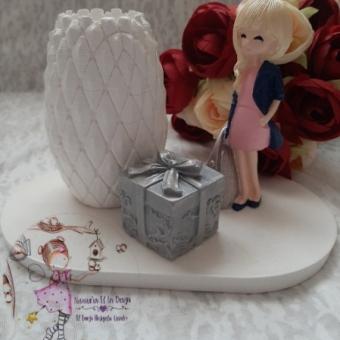 Kokulu Taş Çantalı Kız Kalemlik (hediye paketi)