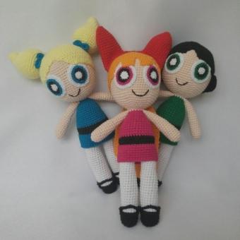 Amigurumi Powerpuff Girls