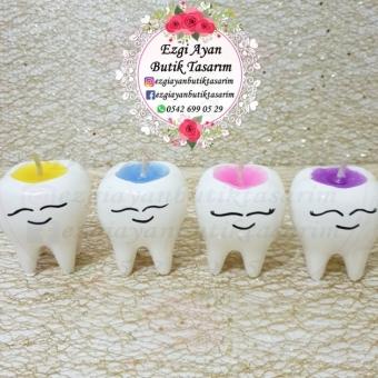 Diş Saksı Mum