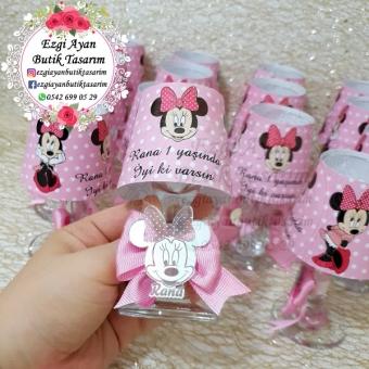 Minnie Mouse Temalı Abajur Mum
