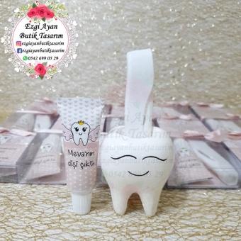 Kokulutaş Diş Saksıda Diş Macunu Ve Diş Fırçası
