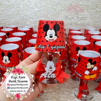 Mickey Mouse Temalı Abajur Mumluk