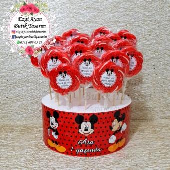 Mickey Mouse Temalı Şeker Standı Ve Şekerler