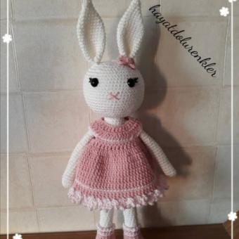 Amigurumi orta boy tavşan