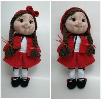 Amigurumi kırmızı başlıklı kız