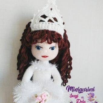 amigurumi prenses bebek
