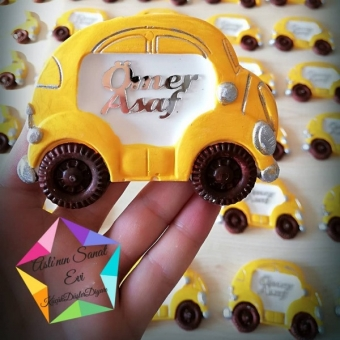 kokulu taş araba magnet