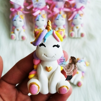 Unicorn Tül Süslemeli Magnet