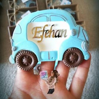 Araba Magnet Mavi - kutulu