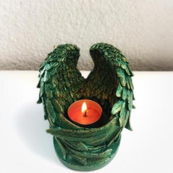 Beton Mumluk - Melek Kanat Yeşil Gold