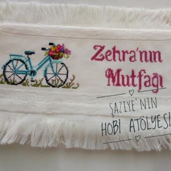 Bisikletli Etamin Havlu