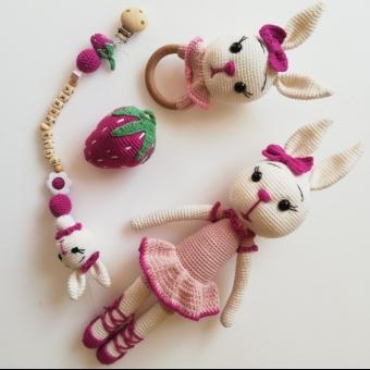 Tavşan emzik zincir seti