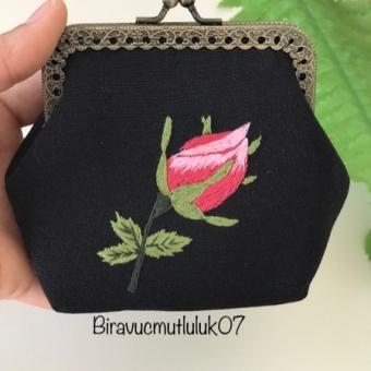 Mini nakışlı cüzdan